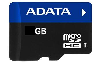 4 GB . microSDHC karta A-DATA Ultra High Speed s micro-čítačkou (AUSDH4GUI-RM3BKBL)