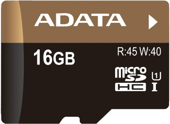 A-DATA microSDHC 16 GB class 10 Premier Pro UHS-I U1 + adapter (AUSDH16GUI1-RA1)