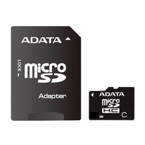 A-DATA microSDHC 8 GB Class 4 + adaptér (AUSDH8GCL4-RA1)