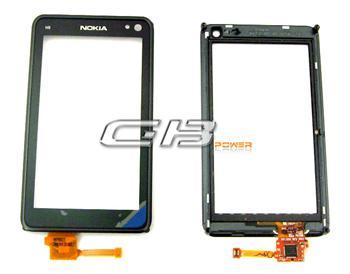 Dotyková plocha + sklíčko pre Nokia N8 + rámik black