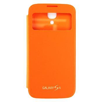 EF-CI950BOE Samsung Flip Pouzdro S-View pro Galaxy S IV (i9500) Orange (EU Blister)