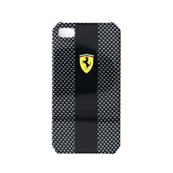 FECBP4BL Ferrari Zadní Kryt iPhone 4/4S Carbon Black Grey