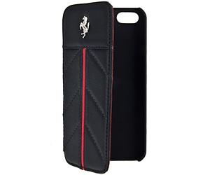 FECFFLBKP5BL Ferrari Kožené Book Pouzdro California pro iPhone 5, 5S Black
