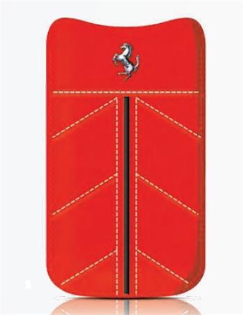 FECFSLLR Ferrari California Kožené Pouzdro Red vel. L