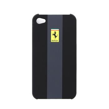 FERU4GBL Ferrari Zadní Kryt iPhone 4/4S Black Grey