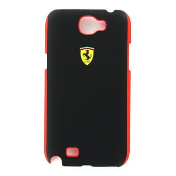 FESCHCN2BL Ferrari Zadní Kryt Black Scuderia pro Samsung N7100 Note2