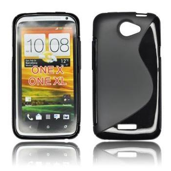 ForCell Zadní Kryt Lux S Black pro HTC ONE X / X+