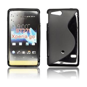ForCell Zadní Kryt Lux S Black pro Sony ST27i