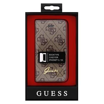 GUFLHP54GB Guess 4G Folio Pouzdro pro iPhone 5/5S/SE Brown (EU Blister)