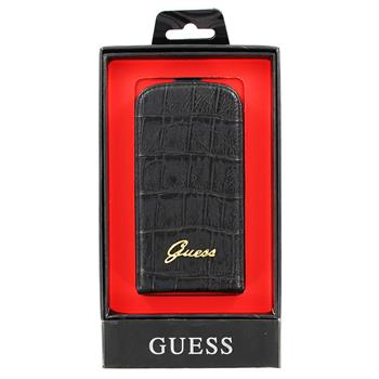 GUFLS3MCMB Guess Croco Čierne Flip Pouzdro pro Samsung S3mini i8190, S3 mini i8200 VE (EU Blister)
