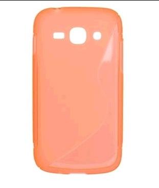 Gumené puzdro HTC 8S, Oranžové