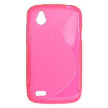 Gumené puzdro HTC Desire X ružové