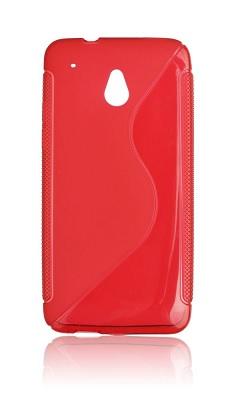 Gumené puzdro HTC One M7 červené