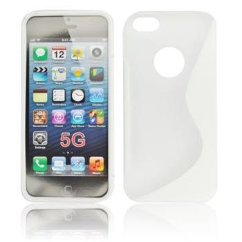 Gumené puzdro iPhone 5/5S/SE Transparente / biele