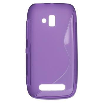 Gumené puzdro Nokia Lumia 610 fialové
