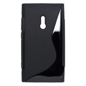 Gumené puzdro Nokia Lumia 800 čierne