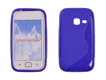 Gumené puzdro Samsung Galaxy Ace Duos S6802 Modré
