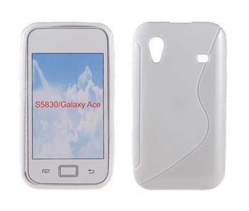 Gumené puzdro Samsung Galaxy Ace S5830 biele