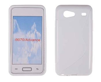 Gumené puzdro Samsung Galaxy S Advance i9070 Biele