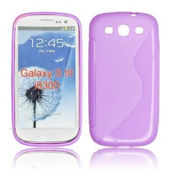 Gumené puzdro Samsung Galaxy S Advance i9070 fialove