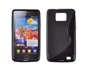 Gumené puzdro Samsung Galaxy SII i9100 Čierne