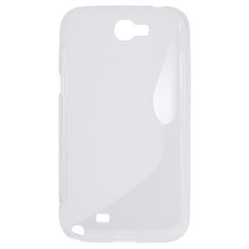 Gumené puzdro Samsung N7100 Galaxy Note II transparentné
