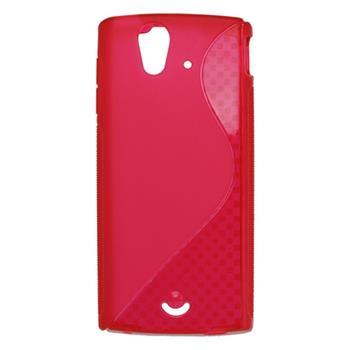 Gumené puzdro Sony Ericsson Xperia Ray ST18i červené