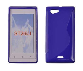 Gumené puzdro Sony Xperia J ST26i Modré