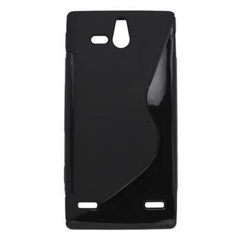 Gumené puzdro Sony Xperia U ST25i čierne
