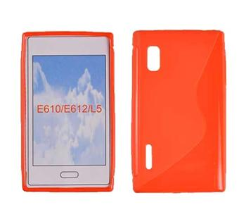 Gumené puzdro Swift LG L5/E610 Oranžové