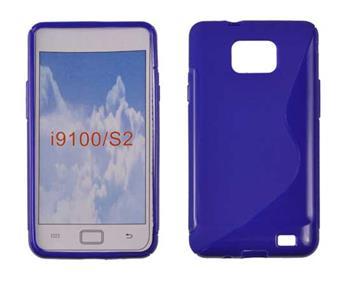 Gumové puzdro Samsung Galaxy S II i9100 modre