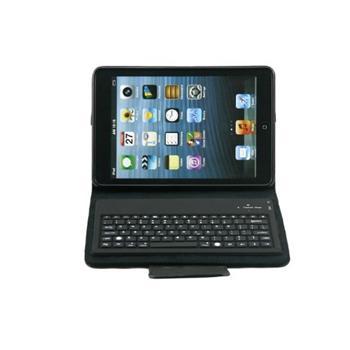 iPad mini Kožené Pouzdro vč. Bluetooth Klávesnice Black