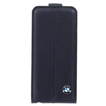 iPhone 5, 5S BMFLP5LN BMW Flip Kožené Pouzdro Blue (EU Blister)