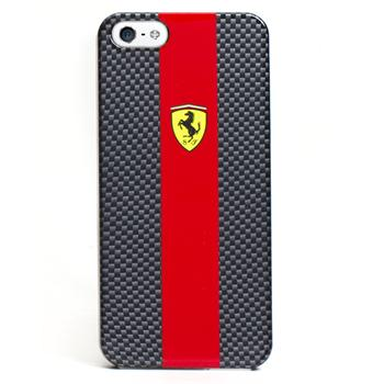 iPhone 5, 5S FECBP5RE Ferrari Zadní Kryt Red Carbon