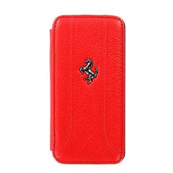 iPhone 5, 5S, SE FEFFFLBKP5RE Ferrari Kožené Folio Pouzdro Red