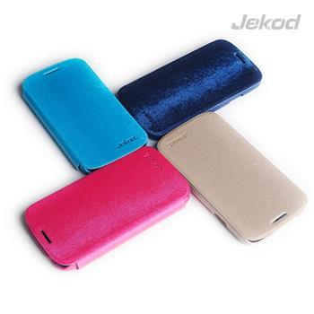 JEKOD Folio Kožené Pouzdro Green pro Samsung i9500 Galaxy S4