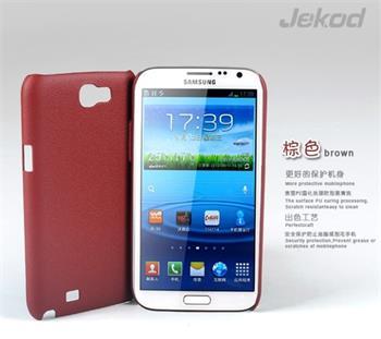 JEKOD Shield Kožený Zadní Kryt Brown pro Samsung N7100 Galaxy Note2