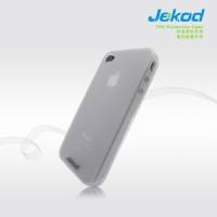 JEKOD TPU Ochranné Pouzdro Biele pro iPhone 4/4S