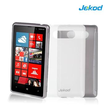 JEKOD TPU Ochranné Pouzdro Biele pro Nokia Lumia 820