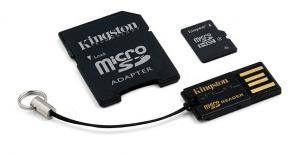 Kingston micro SDHC 8 GB class 4 + Adaptér (MBLY4G2/8GB)