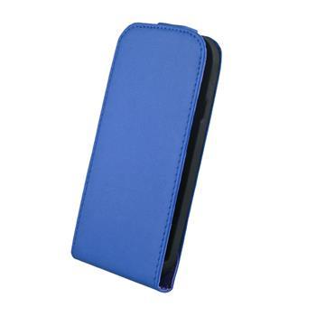 Kožené knižkové púzdro Elegance HTC One modre