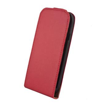 Kožené knižkové púzdro Elegance HTC Windows 8S cervene