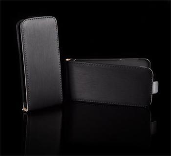 Kožené knižkové púzdro NEO slim iPhone 4/4S Čierna