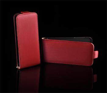 Kožené knižkové púzdro NEO slim Samsung i9100 Galaxy S2 Červená