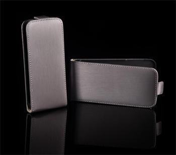 Kožené knižkové púzdro NEO slim Samsung (i9300/S3 i9301 Neo) Galaxy S3 Šedá