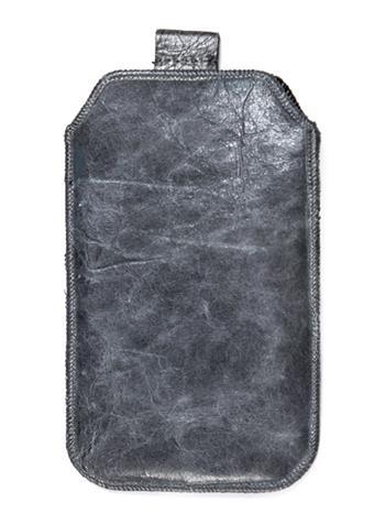Kožené púzdro veľkosť 03 sivé s pásikom pre Nokia 101, Nokia 2220, LG A100, Samsung E1202, Samsung E1050, Samsung E1190, Nokia 612