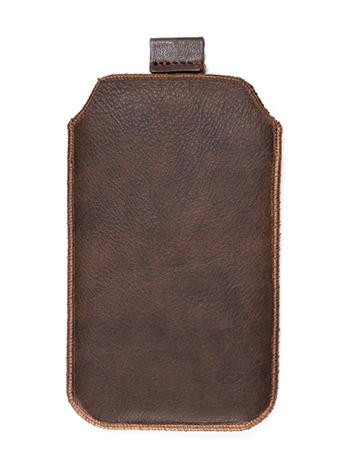 Kožené púzdro veľkosť 04 hnedé s pásikom pre Samsung E1052, Samsung E1202,LG A100, Nokia C5, Nokia E51, Nokia 3120, Nokia 6700, N