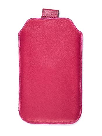 Kožené púzdro veľkosť 10 ružové s pásikom pre Sam. E2652W, Sam. S5300, Sam. S5360, Sam. Star III., Motorola Wilder, HTC Explorer,