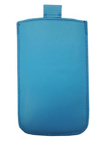 Kožené púzdro veľkosť 18 modré s pásikom pre Sam. E2652W, Sam. C3300, SE ST15i, Sony Ericsson Mix Walkman,. ny Ericsson X8, Motoro