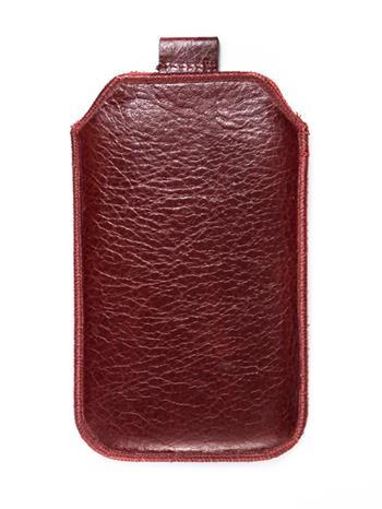 Kožené púzdro veľkosť 28 tmavočervená s pásikom pre Samsung S5610